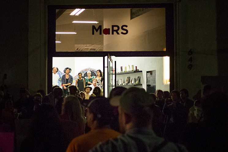 Protesters outside of MaRS Gallery on September 17. Image by: Timo Saarelma