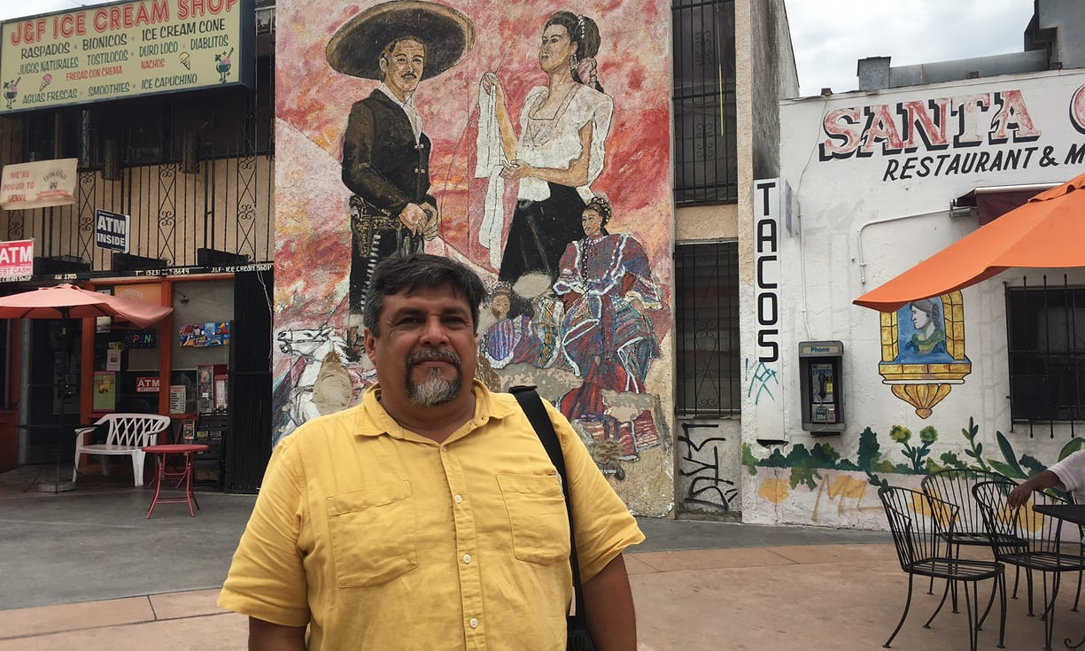 Leonardo Vilchis in Boyle Heights. Photograph: Rory Carroll for the Guardian