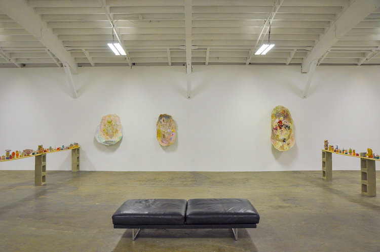 "Installation view of ""Laura Soto: Flesh and Flood,"" 2018, at Museum as Retail, Los Angeles. COURTESY MUSEUM AS RETAIL"